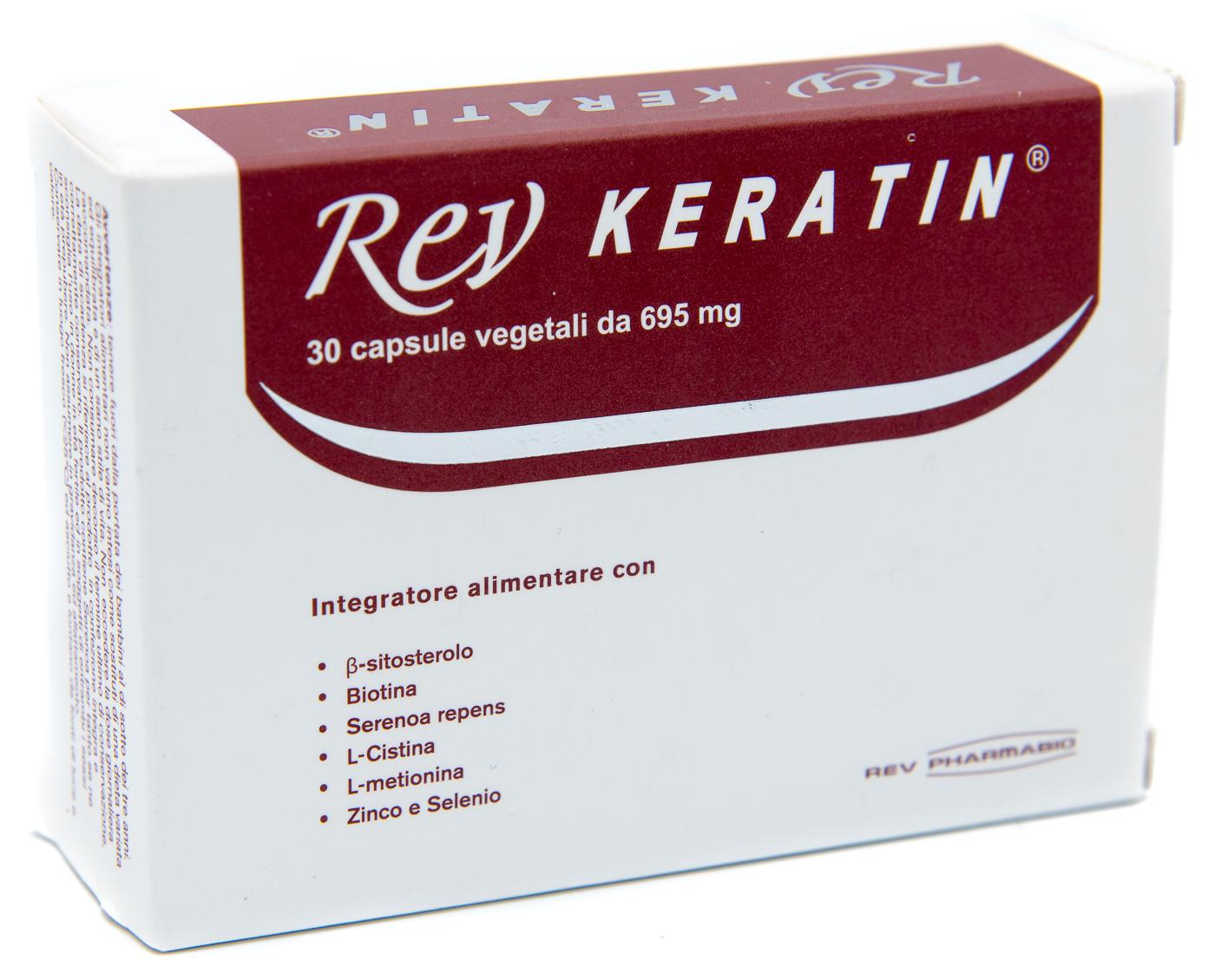 REV PHARMABIO Srl Rev Keratin 30cps