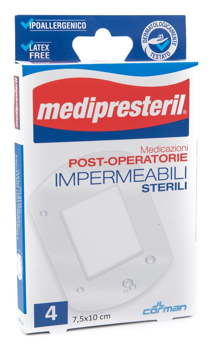 CORMAN SpA Medipresteril Medicazioni Post Operatorie Impermeabili 7.5x10 Cm 4pz