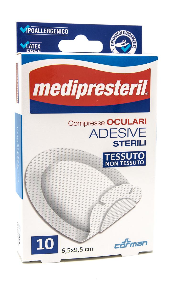 CORMAN SpA Medipresteril Compresse Oculari Adesive Sterili In Tnt 6.5x9.5cm 10pz