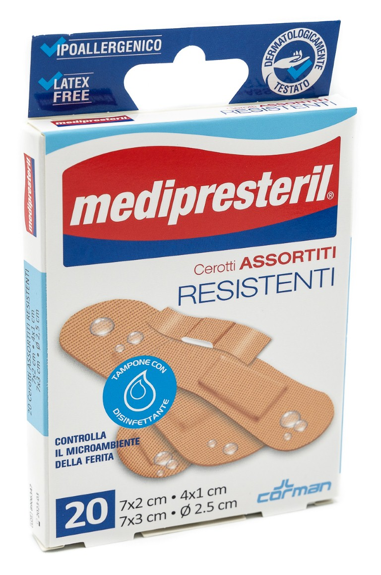 CORMAN SpA Medipresteril Cerotti Assortiti Resistenti 20pz