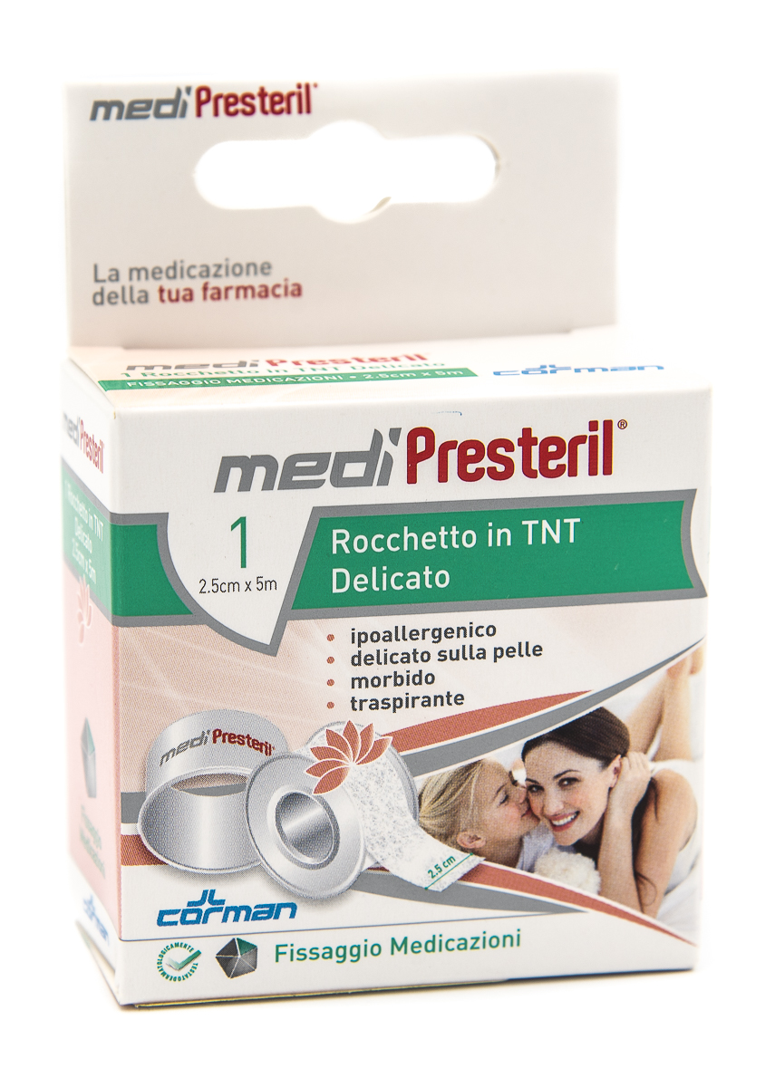 CORMAN SpA Medipresteril Cerotto Rocchetto In Tnt 2.5cmx5m 1pz