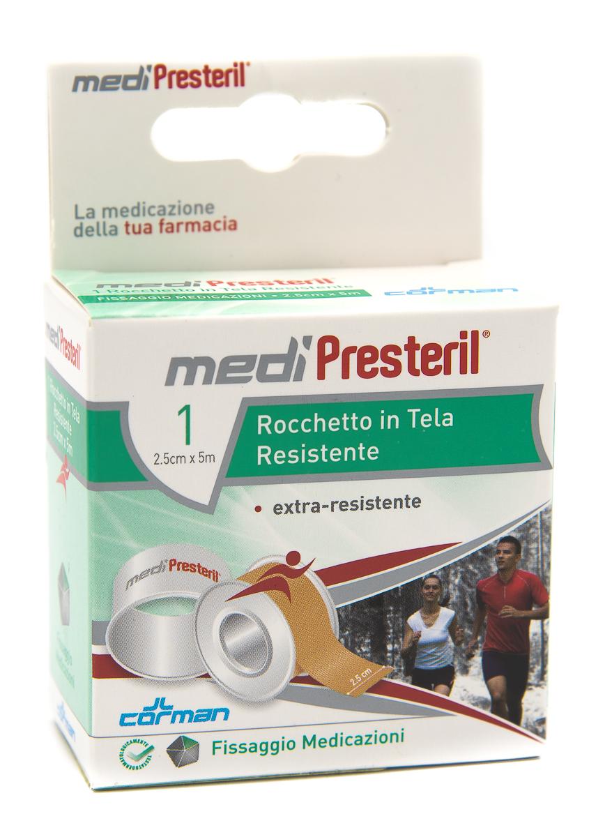 CORMAN SpA Medipresteril Cerotto Rocchetto In Tela 2.5cmx5m 1pz