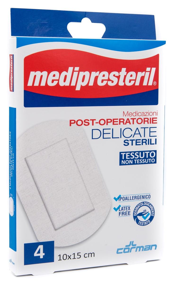CORMAN SpA Medipresteril Medicazioni Post Operatorie Delicate 10x15 Cm 4pz