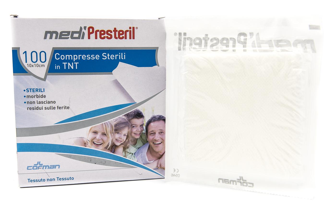 CORMAN SpA Medipresteril Compresse Sterili In Tnt 10x10cm 100pz