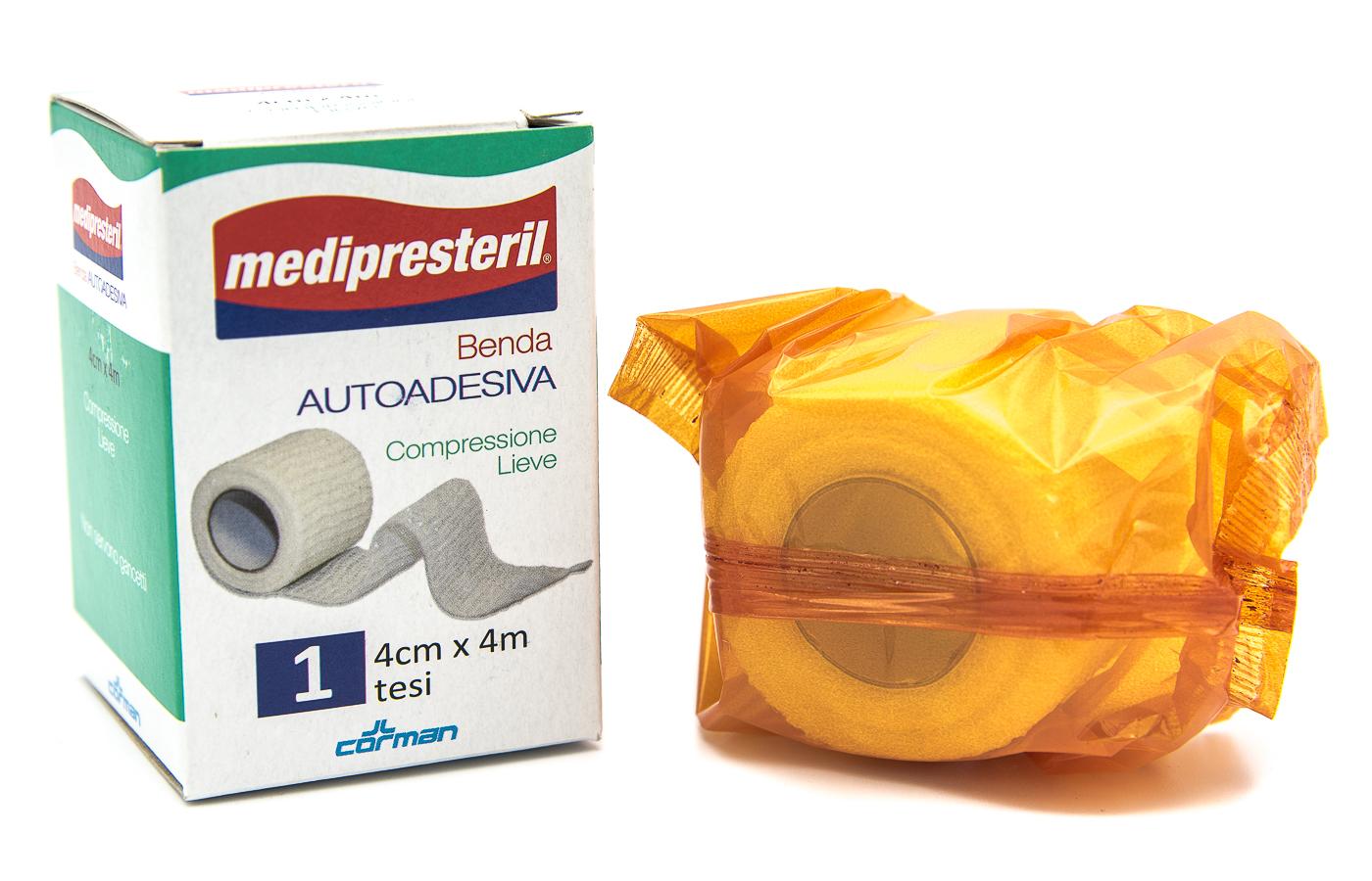 CORMAN SpA Medipresteril Benda Autoadesiva 4cmx4m 1pz