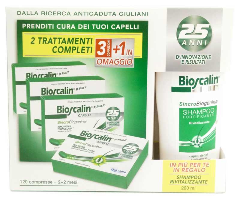 GIULIANI SpA Bioscalin Con Sincrobiogenina Uomo/donna 4conf X 30cpr+shampoo 200ml Omaggio