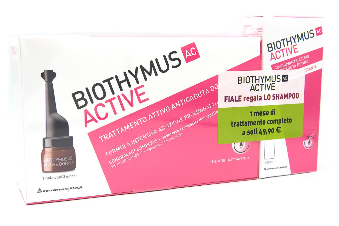 MEDA PHARMA SpA Biothymus Trattamento Donna 10fiale+shampoo Volumizzante 180ml Omaggio