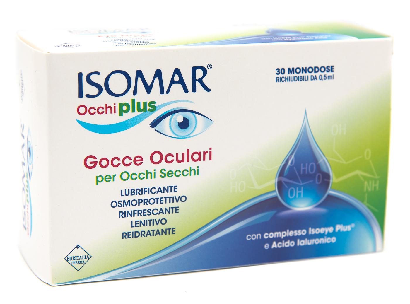 EURITALIA PHARMA (div.CoSWELL) Isomar Occhi Plus Gocce Oculari Monodose 30flx0.5ml
