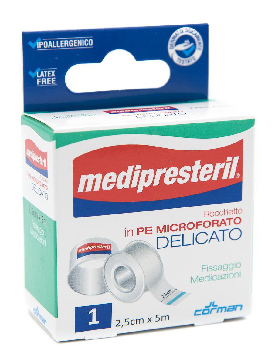 CORMAN SpA Medipresteril Cerotto Rocchetto In Pe Microforato Delicato 2.5cmx5m 1pz