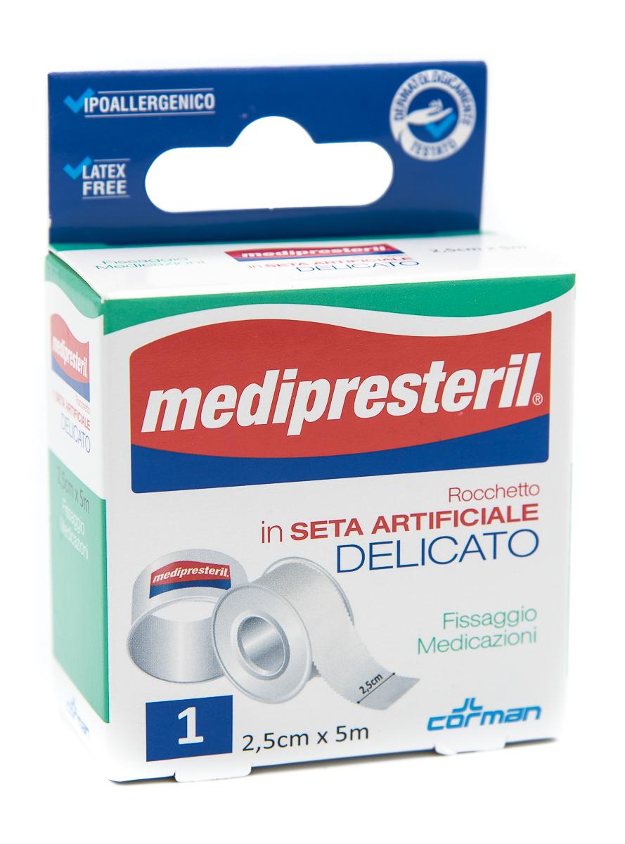 CORMAN SpA Medipresteril Cerotto Rocchetto In Seta Artificiale Delicato 2.5cmx5m 1pz