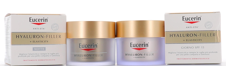 BEIERSDORF SpA Eucerin Hyaluron Filler Elasticity Crema Giorno 50ml+crema Notte 50ml Omaggio