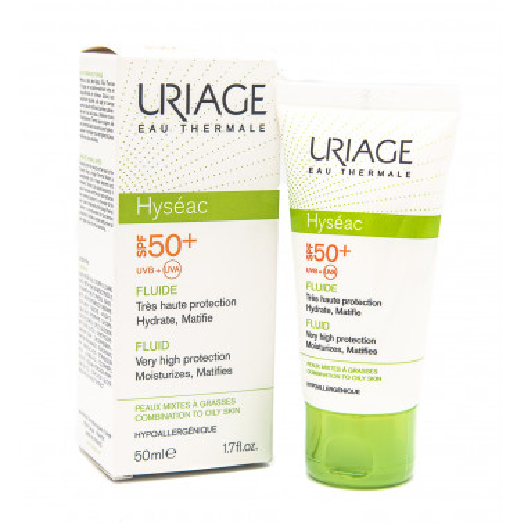 URIAGE LABORATOIRES DERMATOLOG - URIAGE HYSEAC SOLAIRE FLUIDO SPF50+ 50ML