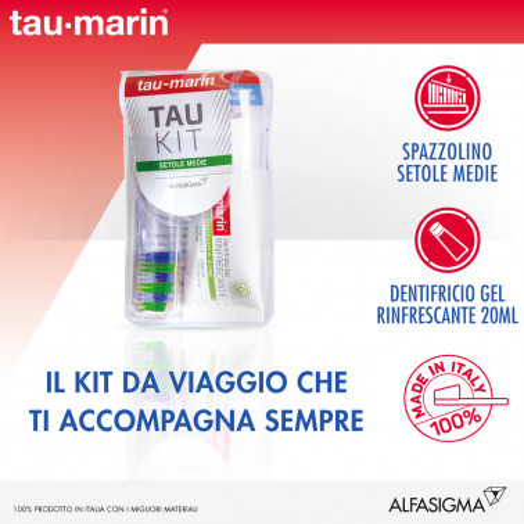 ALFASIGMA SpA - TAUMARIN Kit Dentifricio Gel Erbe 20ml+Spazzolino Setole Medie
