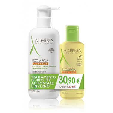 ADERMA (Pierre Fabre It.SpA) - ADERMA EXOMEGA CONTROL LATTE 400ML + OLIO 200ML