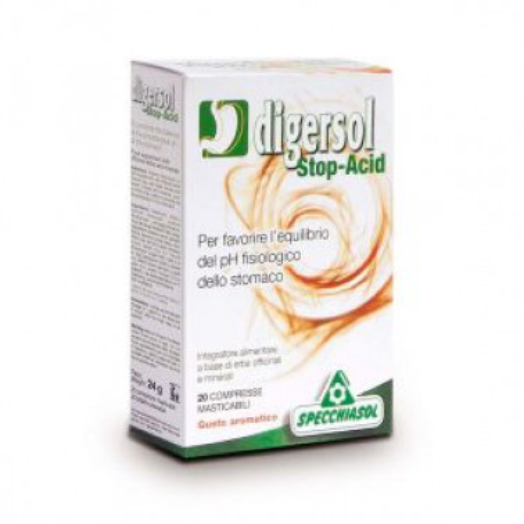 SPECCHIASOL Srl - DIGERSOL Stop-Acid 20 Compresse Masticabili