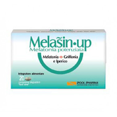 POOL PHARMA Srl - MELASIN•UP Integratore Melatonina+Griffonia e Iperico 20cpr