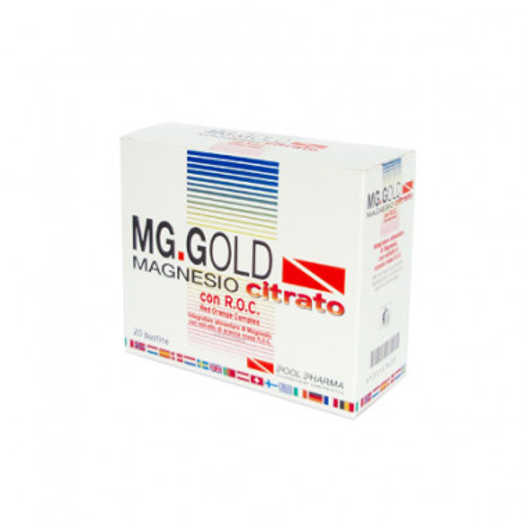 POOL PHARMA Srl - MG. GOLD Magnesio Citrato Integratore 20bustine