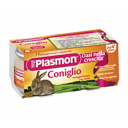PLASMON (HEINZ ITALIA SpA) - PLASMON Omogeneizzato Coniglio gr 80x4 Vasetti