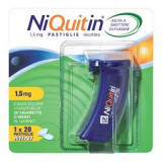 NIQUITIN MINI NICOTINA 1,5MG 20 PASTIGLIE