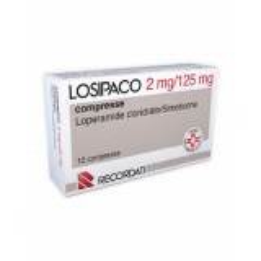 LOSIPACOANTIDIARROICO E ANTIGONFIORE 12 COMPRESSE