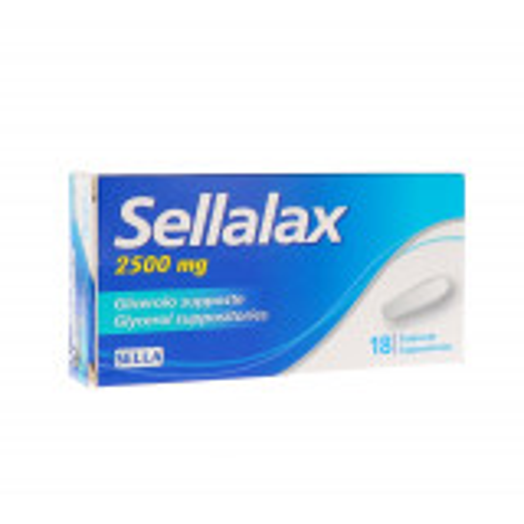 SELLALAX 2500MG SUPPOSTE GLICERINA 18PZ