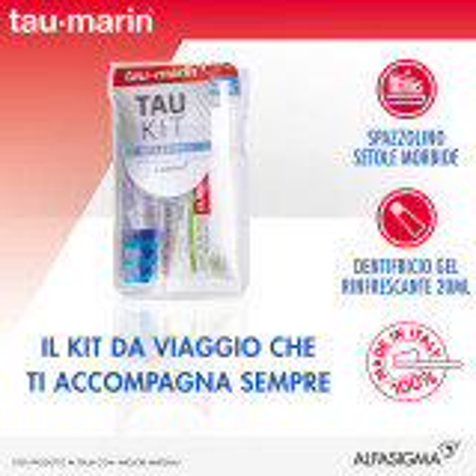 TAUMARIN Kit Dentifricio Gel Erbe 20ml+Spazzol. Setole Morbide