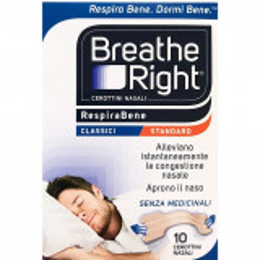 BREATH RIGHT CEROTTI NASALI CLASSICI GRANDI 10PZ