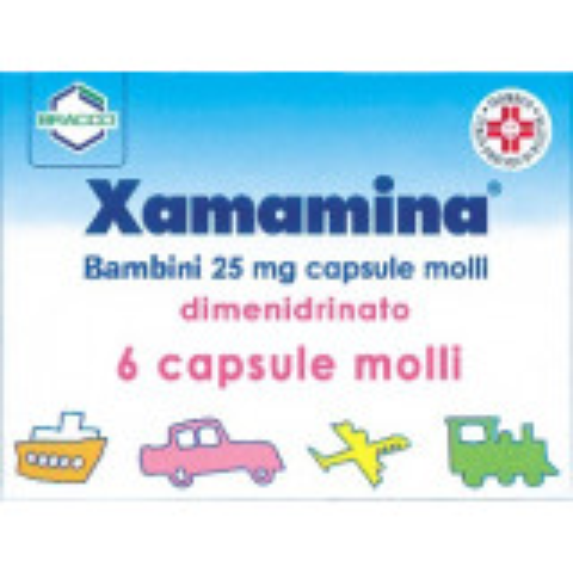 XAMAMINA 25MG ANTINAUSEA 6 CAPSULE MOLLI BAMBINI