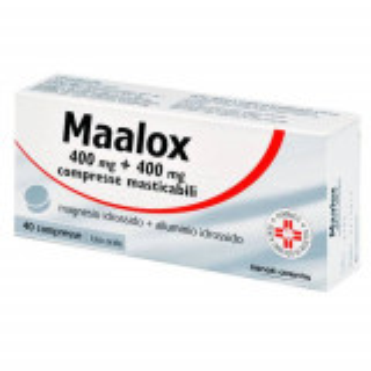 MAALOX ANTIACIDO 40 COMPRESSE MASTICABILI