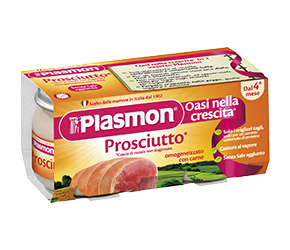 PLASMON (HEINZ ITALIA SpA) Plasmon Omogeneizzato Prosciutto Gr 80x4 Vasetti